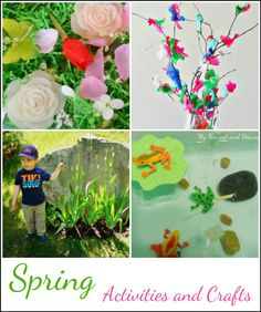 Spring Activities and Crafts for Kids #seasons #learning #games #fun explore mathnook.com