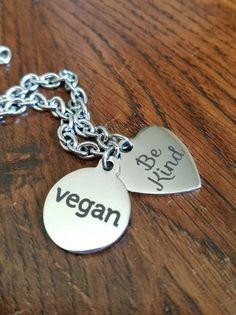 Vegan Love Bracelet by bluesparrowtrinkets on Etsy