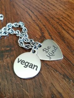 Vegan Love Bracelet by bluesparrowtrinkets on Etsy