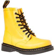 Dr. Martens The Drench 8-Eye Boot in Matt Yellow (115 CAD) ❤