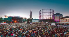 Main stage area by Jussi Hellsten, Flow Festival 2012, via Flickr