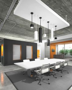 Tech Lighting - Exo Black Medium 20 Degree Pendant with Matte Shade & 12 Inch Rod Bureau Design, Workspace Design, Office Workspace, Design Brochure, Design Logo, Typography Design, Decor Interior Design, Interior Decorating, Commercial Office Design
