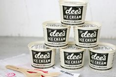Vintage Dee's Ice Cream packaging