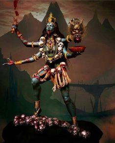 Paramchaintanya Men — kali by André Yamaguchi Kali Hindu, Durga Maa, Shiva Shakti, Hindu Art, Kali Shiva, Kali Mata, Kali Goddess, Black Goddess, Mother Goddess