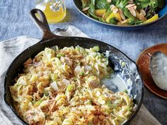 We love the old-school feel of this skillet supper. If you can't find whole-wheat panko, sauté fresh whole-wheat crumbs until crisp.