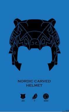 Nordic Carved Helmet. Helmets of Skyrim Series. Created @ Strong Jaw Designs
