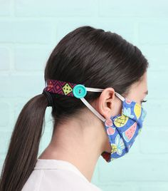 """These simple DIY ear savers are made to help protect the ears from chafing when wearing a medical face mask. These are a great item to donate to hospitals to show support to nurses and healthcare"" Easy Face Masks, Diy Face Mask, Diy Peel Off Face Mask, Nose Mask, Simple Diy, Easy Diy, Crochet Mask, Crochet Faces, Sewing Patterns Free"