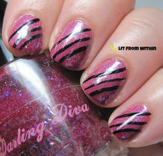 Lit from Within: GOT pink stripes
