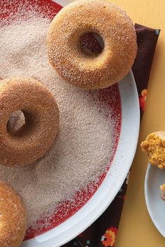 With their brilliant orange color, pleasingly moist texture, and delightful pumpkin flavor, these baked (not fried) doughnuts are the perfect on-the-go breakfast for a crisp autumn day. Pumpkin Cake Doughnuts - King Arthur Flour