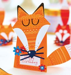 Throw someone a fox-themed birthday for someone special using Cathie Shuttleworth's ideas