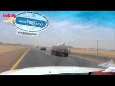 المقطع الكامل لحادثة الشباب السعوديون مع سائق شاحنة الموت !!! وماذا فعلوا لإنقاذ الناس من شره / رجال - YouTube