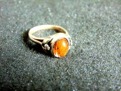 Dainty Silver Ring,Sterling Silver and Amber Ring,Gemstone Silver 925 Ring,Womens Rings,Gift for Her,Gift Idea,Artisan Jewelry,Greek Art by ArchipelagosBreeze on Etsy