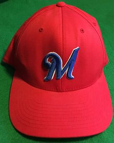 Milwaukee Brewers Unique Color Scheme Fitted Cap Size L/XL by CoryCranksOutHats on Etsy