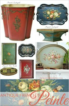 An antique piece of French toleware is a one-of-a-kind objet d'art, of high quality, with plenty of personality and style.