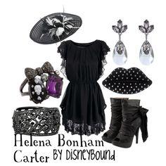 """Helena Bonham Carter"" by lalakay on Polyvore. I love the earrings!"