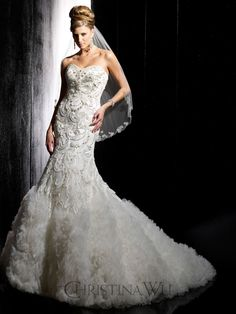 The Christina Wu Wedding Dresses have been a leader in the bridal industry for almost 20 years. Christina Wu offers gorgeous wedding dresses, that feature Wedding Dresses Photos, Wedding Dress Styles, Bridal Dresses, Wedding Gowns, Wedding Attire, Bridesmaid Dresses, Justin Alexander Bridal, Christina Wu, Amazing Wedding Dress