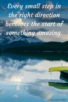 ~ Every small step in the right direction becomes the start of something amazing. Great Quotes, Me Quotes, Motivational Quotes, Inspirational Quotes, Amazing Quotes, Happy Thoughts, Positive Thoughts, Positive Quotes, Spiritual Wisdom