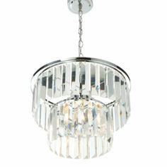 Komet Spherule Chrome Effect 20 Lamp Pendant Ceiling Light ...