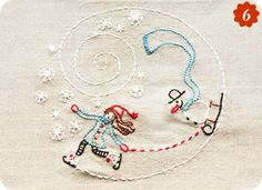 Cute winter pattern for embroidery