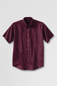 Men's Dress Code Short Sleeve Performance Twill Shirt from Lands' End