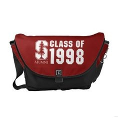 Block S Class of 1998 Stacked Messenger Bags