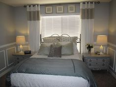 window behind bed - Little Miss Penny Wenny: Master Bedroom Makeover Reveal