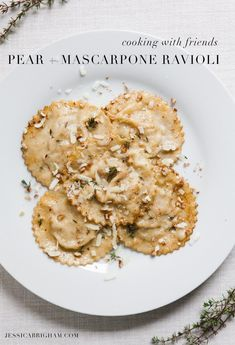 Cooking With Friends: Homemade Pear + Mascarpone Ravioli with Mrs. Pasta Recipes, Dinner Recipes, Cooking Recipes, Cod Recipes, Ramen Recipes, Cabbage Recipes, Shrimp Recipes, Fish Recipes, Casserole Recipes