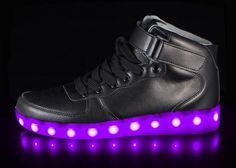 Led shoes by Hoverkick - Big Kids Super Nova (Black)