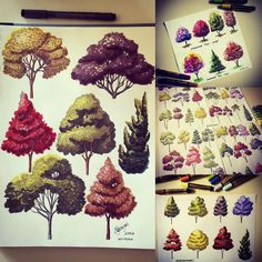 My favourite! ☺️#art #arte #trees #croqui #drawing #desenho #dibujo #sketch #sketching #markers #magiccolor #feitoamao #handmade #handrender #render #arquiteturaeurbanismo #arch #archi #archistudent #architecture #arqui #arquiart #arquilovers #archilovers #paisagismo #arquitetura #archistudent