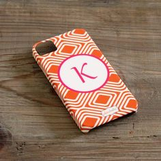 I pinned this Custom iPhone 4/4S Case in Orange Diamond from the Clairebella event at Joss & Main!