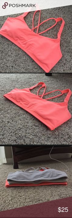 "Lululemon bra Lightly used condition. Bought from another posher. Has a sticker of tag 6, but as you can see compared to my other size 6 "" free to be bras"", this one is slightly larger. I'm a true size 6 in lulu Bras (32 C, 34 B in VS) so if you are a tad bigger then this would fit you better! lululemon athletica Tops"