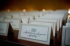 champagne escort cards | Champagne & Ivory | Escort Cards
