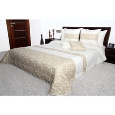 Luxusný krémovo béžovy prehoz na manželskú posteľ Furniture, Home Decor, Decoration Home, Room Decor, Home Furnishings, Home Interior Design, Home Decoration, Interior Design, Arredamento