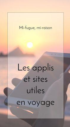 Nos applis et sites préférés pour organiser nos voyages.#pratique#appli#application#voyage#travel#blog#tourdumonde#nomade#article