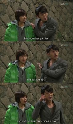 Loved the drunken competition between Joo Won and the director