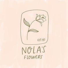 Nola's Flowers Logo by Kercia Jane Design