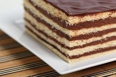 Prajitura Dobos Russian Desserts, Romanian Food, Romanian Recipes, Home Food, Truffles, Vanilla Cake, Food Inspiration, Biscuits, Bakery