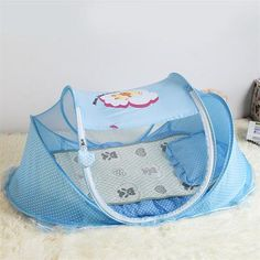 Baby Infant Bed Canopy Mosquito Net Cotton-padded Mattress Pillow for 0~3 years…