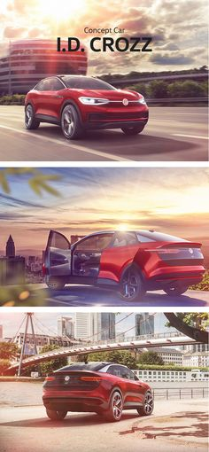 The Volkswagen I.D. CROZZ concept car is a sporty, interactively designed zero-emission all-rounder. Thanks to its electric all-wheel drive it is equally impressive in the urban environment as it is on the tracks of an active lifestyle.