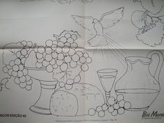Santa Ceia – Pintura em tecido – risco de Bia Moreira…   Criar e Pintar