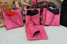 CreativeConceal.com- Concealed carry purse holsters to fit various weapons.  Pink Gator print fabric.