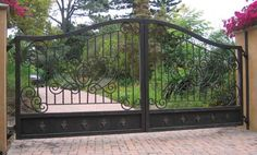 Gallery - Gate Systems - Chicagoland Automatic and Driveway Gates - Wrought Iron Driveway Gates, Driveway Entrance, Front Gates, Entrance Gates, Door Gate, Fence Gate, Gate Images, Ranch Fencing, Tor Design