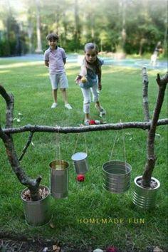 Tin Throw. Cheap and fun!