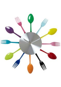 Five After Flatware Clock