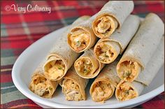 For Jack, who nearly cried when Taco Bell discontinued taquitos: Baked Chicken Taquitos | Very Culinary