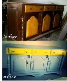 Sideboard by {Bezoo} Before And After Pictures, Sideboard, Buffet, Cabinet, Storage, Furniture, Home Decor, Clothes Stand, Purse Storage