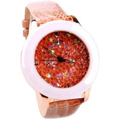 Genuine Leather Strap Women Watch Full Crystal Dress Watch
