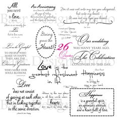 26 motivational quotes about love. Download these png quotes to use for creating cards, scrapbooking, planner stickers, etc.
