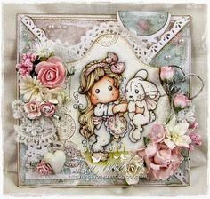 OOAK Magnolia Tilda Criss Cross Card