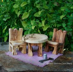 Fairy Tea Table set with rug   by willodel